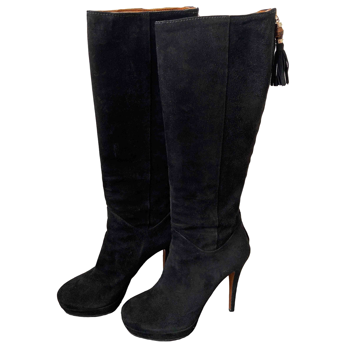 Gucci \N Black Suede Boots for Women 37.5 IT