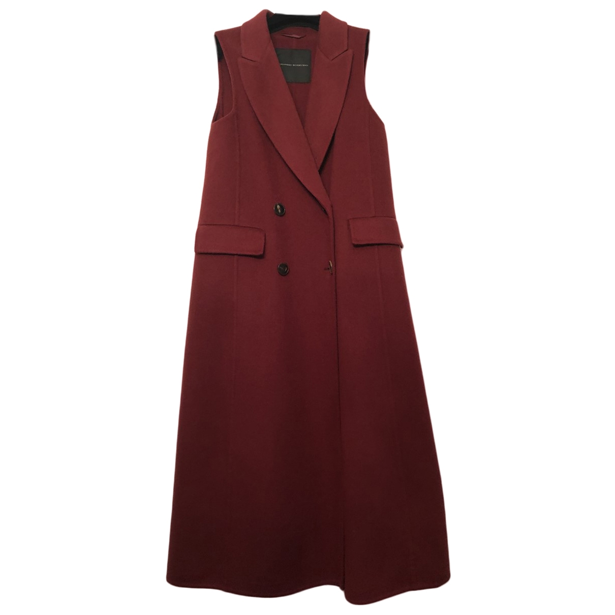 Ermanno Scervino \N Burgundy Wool coat for Women 38 IT
