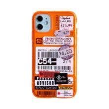iPhone Schutzhuelle mit Etikette Muster