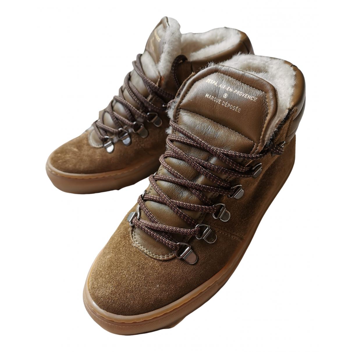 Zespa - Boots   pour femme en suede - marron