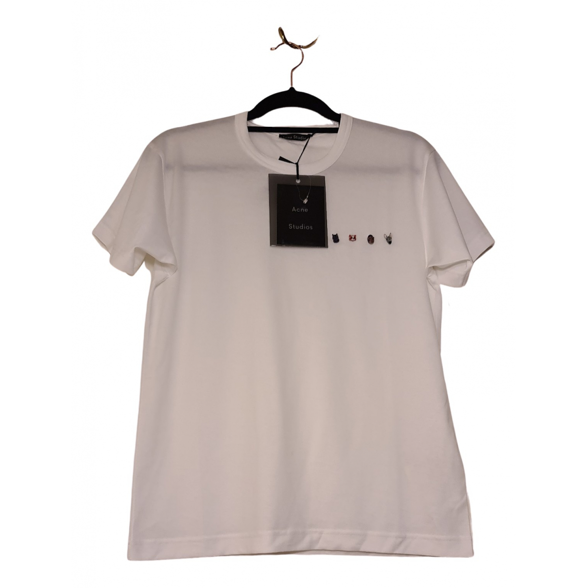 Acne Studios N White Cotton T-shirts for Men XS International