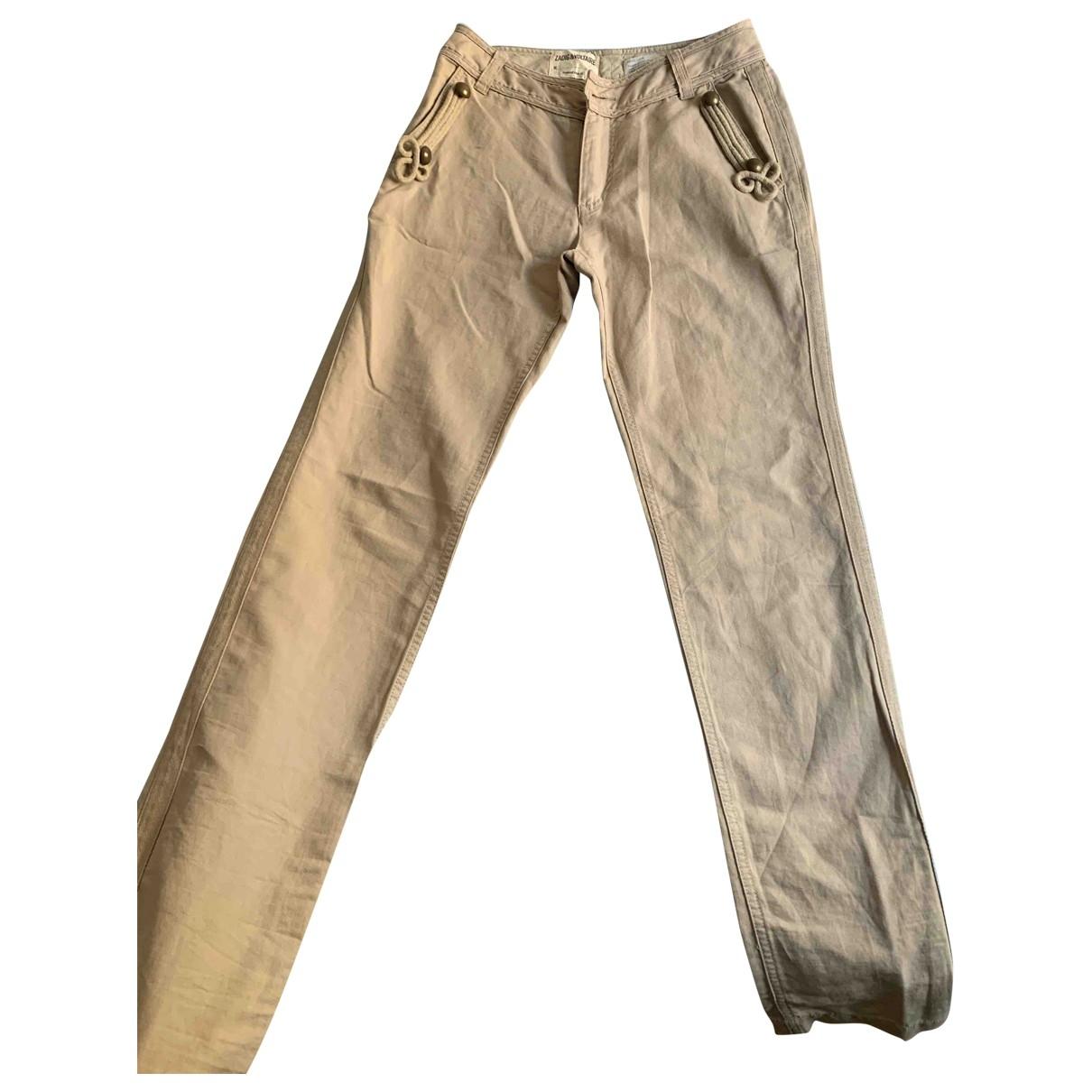 Zadig & Voltaire \N Beige Cotton Jeans for Women 36 FR