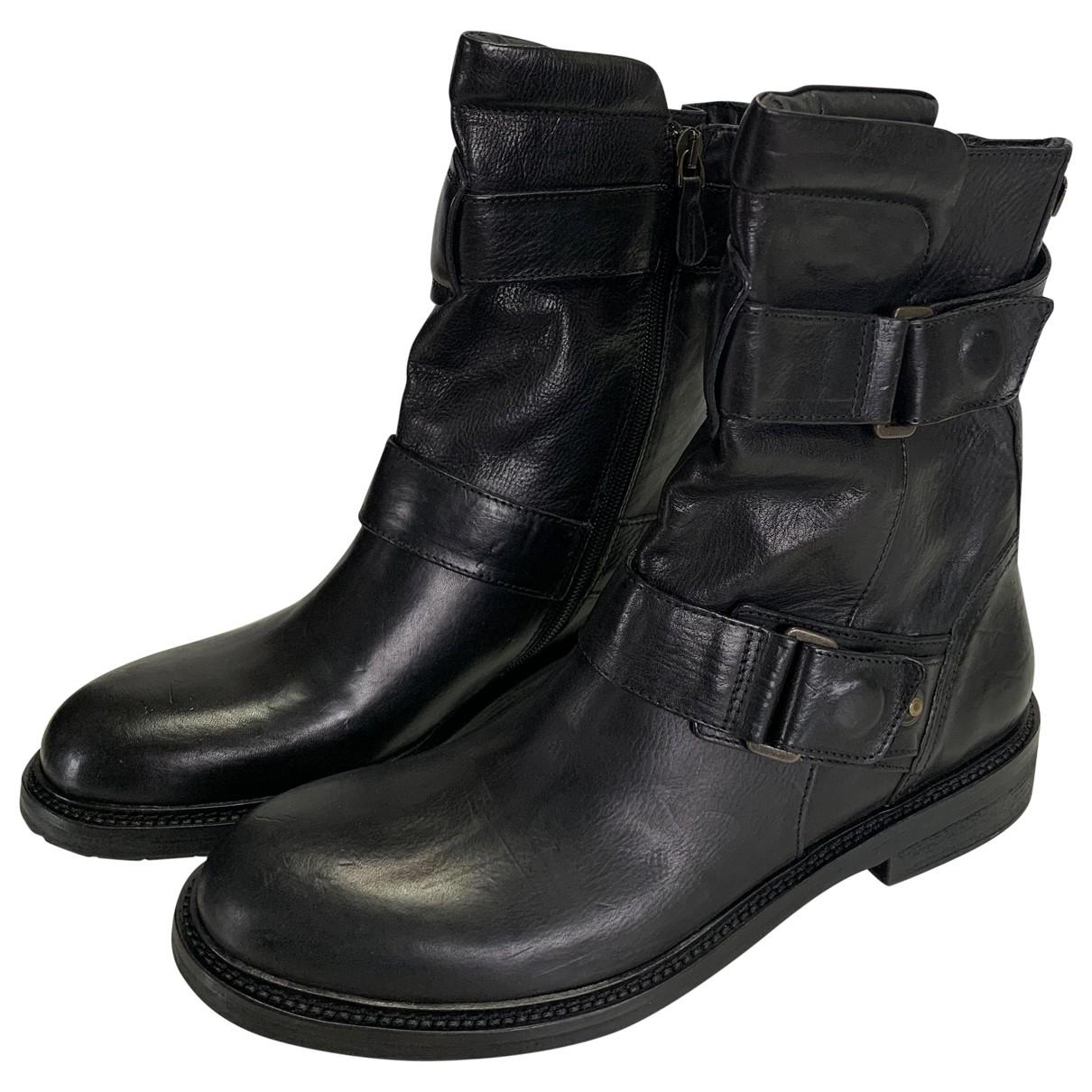 Matchless - Boots   pour femme en cuir - noir