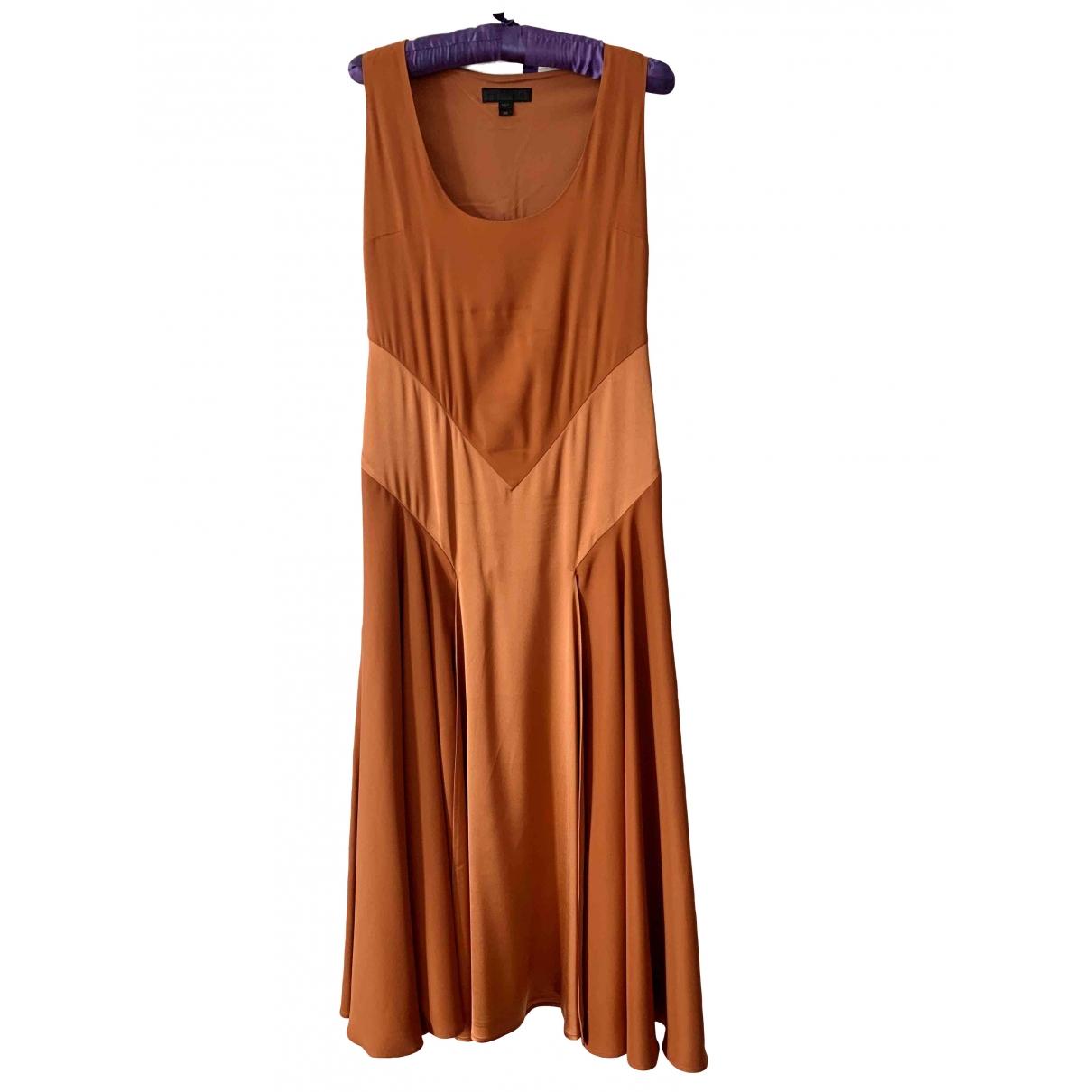 Burberry \N Orange Silk dress for Women 38 IT
