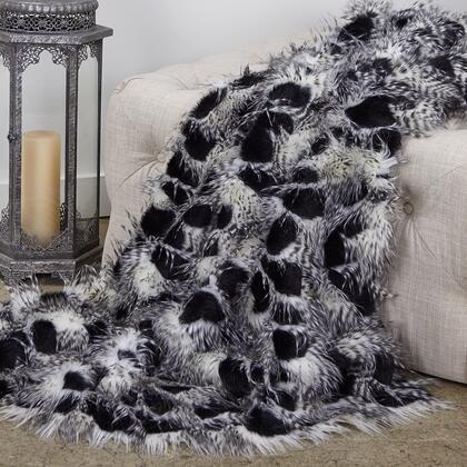 Porcupine Collection PBEZ1784-9090-TC 90L x 90W Full Black and White Faux Fur Luxury