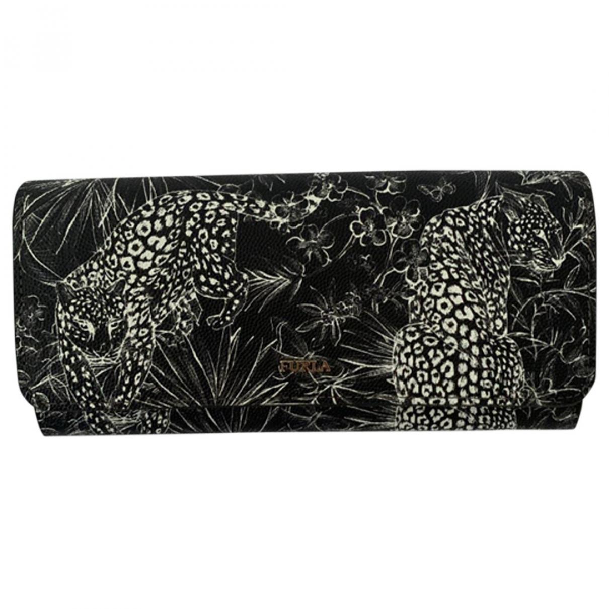 Furla \N Black Leather Purses, wallet & cases for Women \N