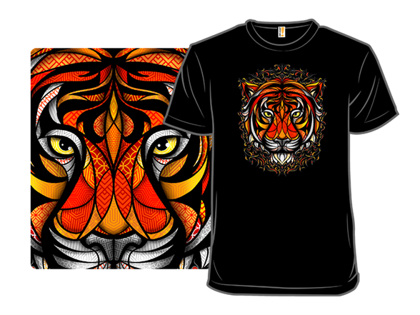 Patternal Tiger T Shirt