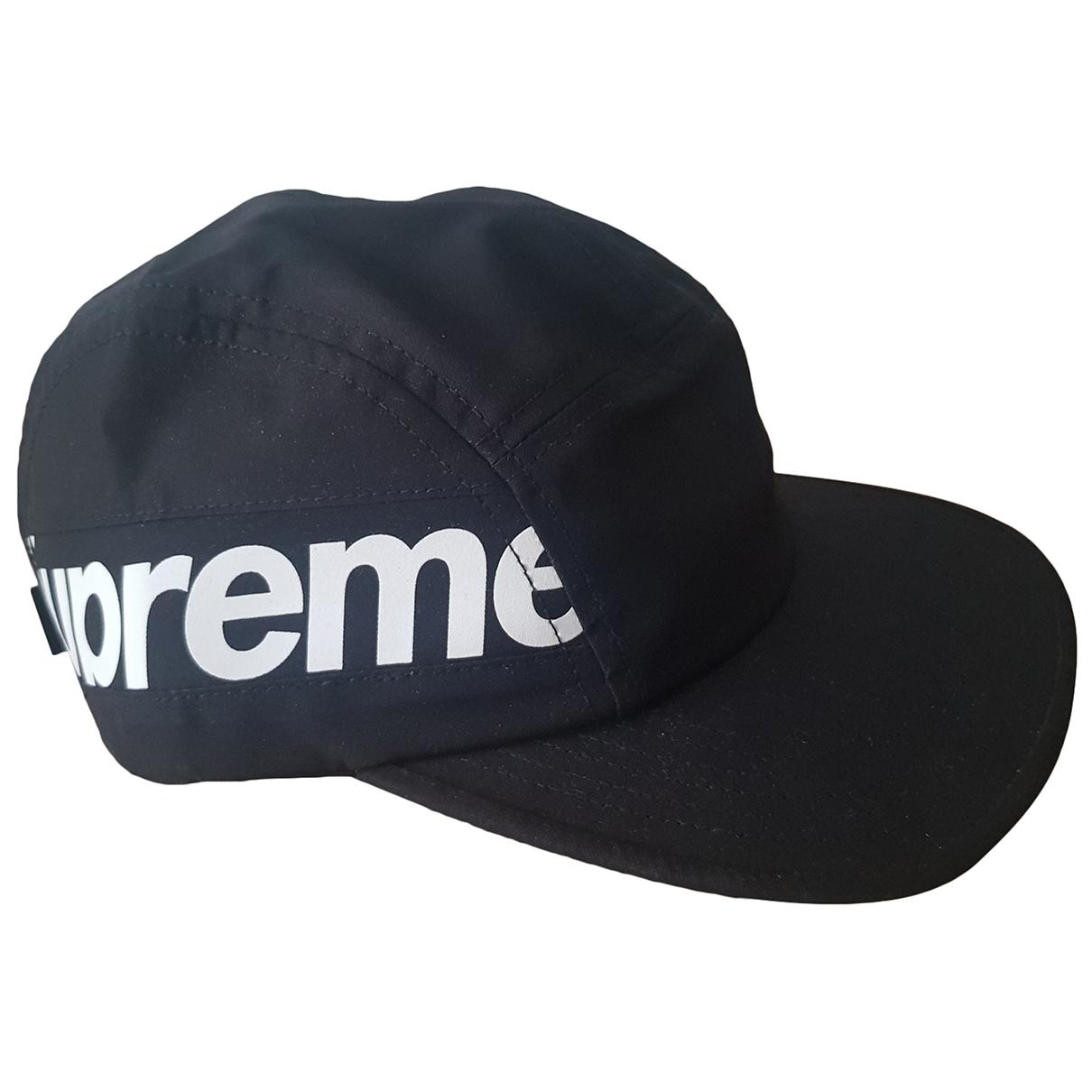 Supreme - Chapeau & Bonnets   pour homme en coton - noir