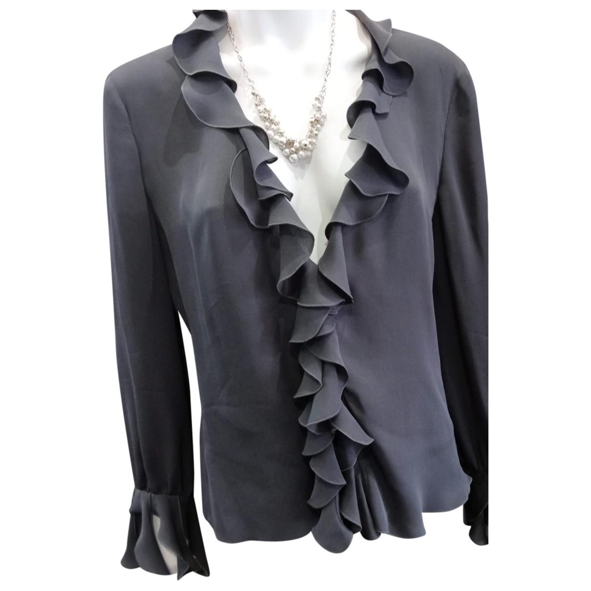 Armani Collezioni \N Grey Silk  top for Women 46 IT