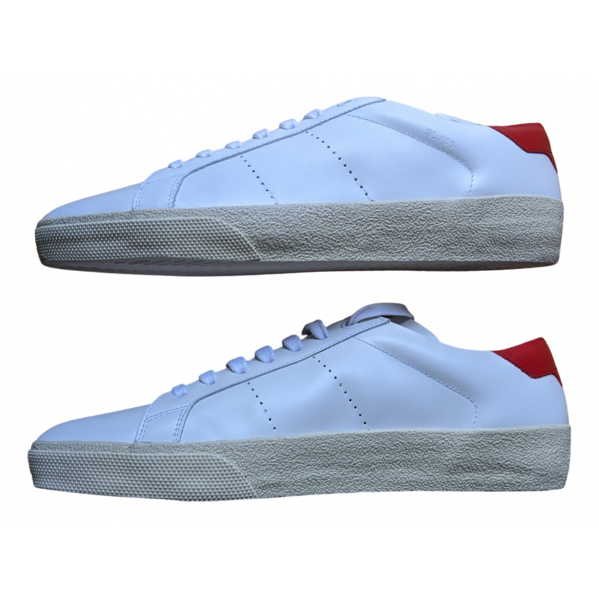 Saint Laurent SL/06 White Leather Trainers for Men 40 EU