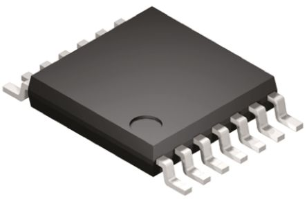 Texas Instruments LM2901PWR , Quad Comparator, Open Collector O/P, 1.3μs 3 → 28 V 14-Pin TSSOP (25)
