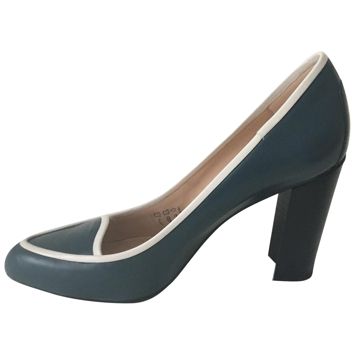 Tods - Escarpins   pour femme en cuir - bleu