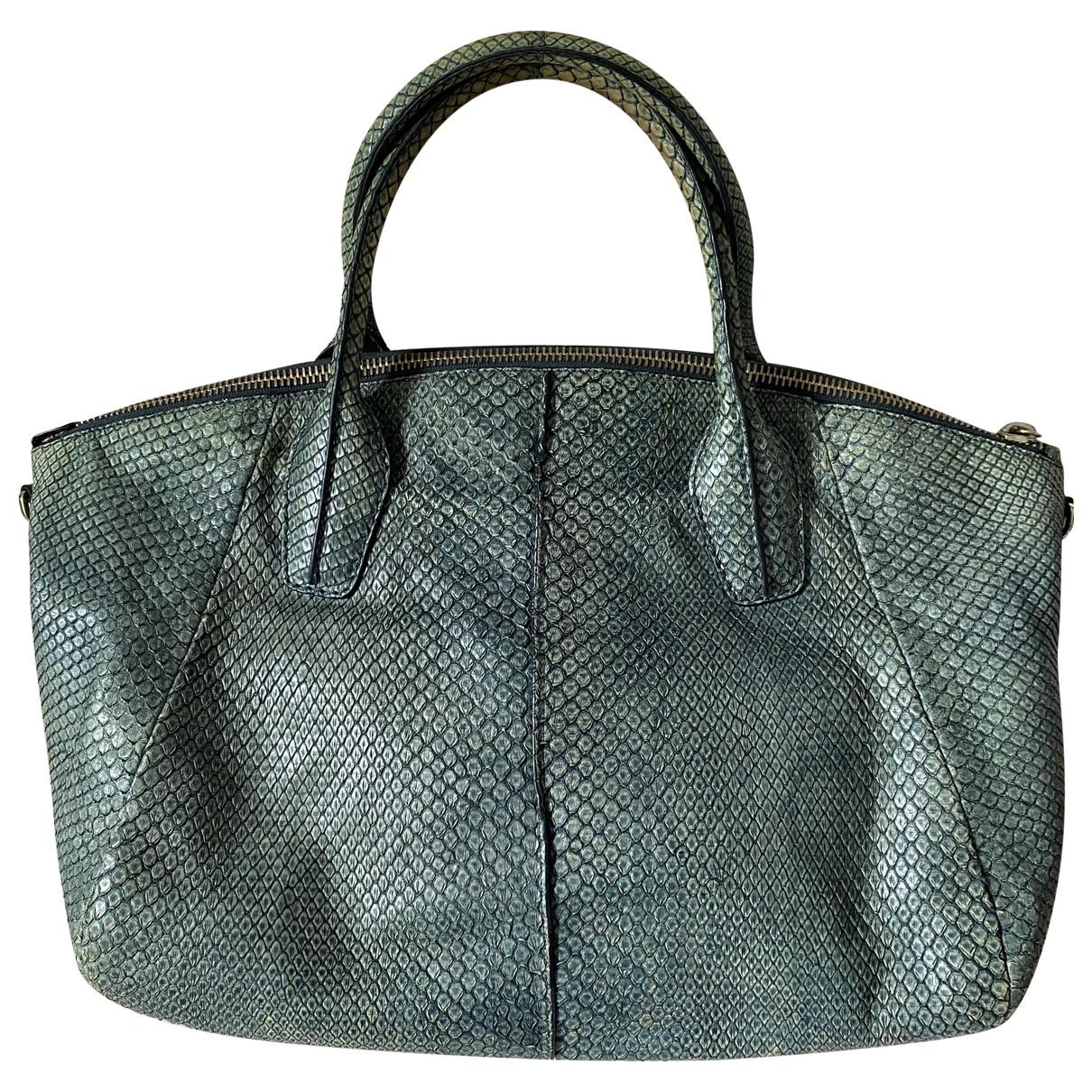 Tods \N Green Python handbag for Women \N