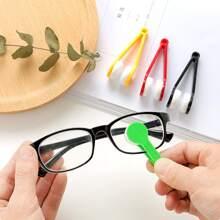 Cepillo de limpieza de gafas de color al azar 1 pieza