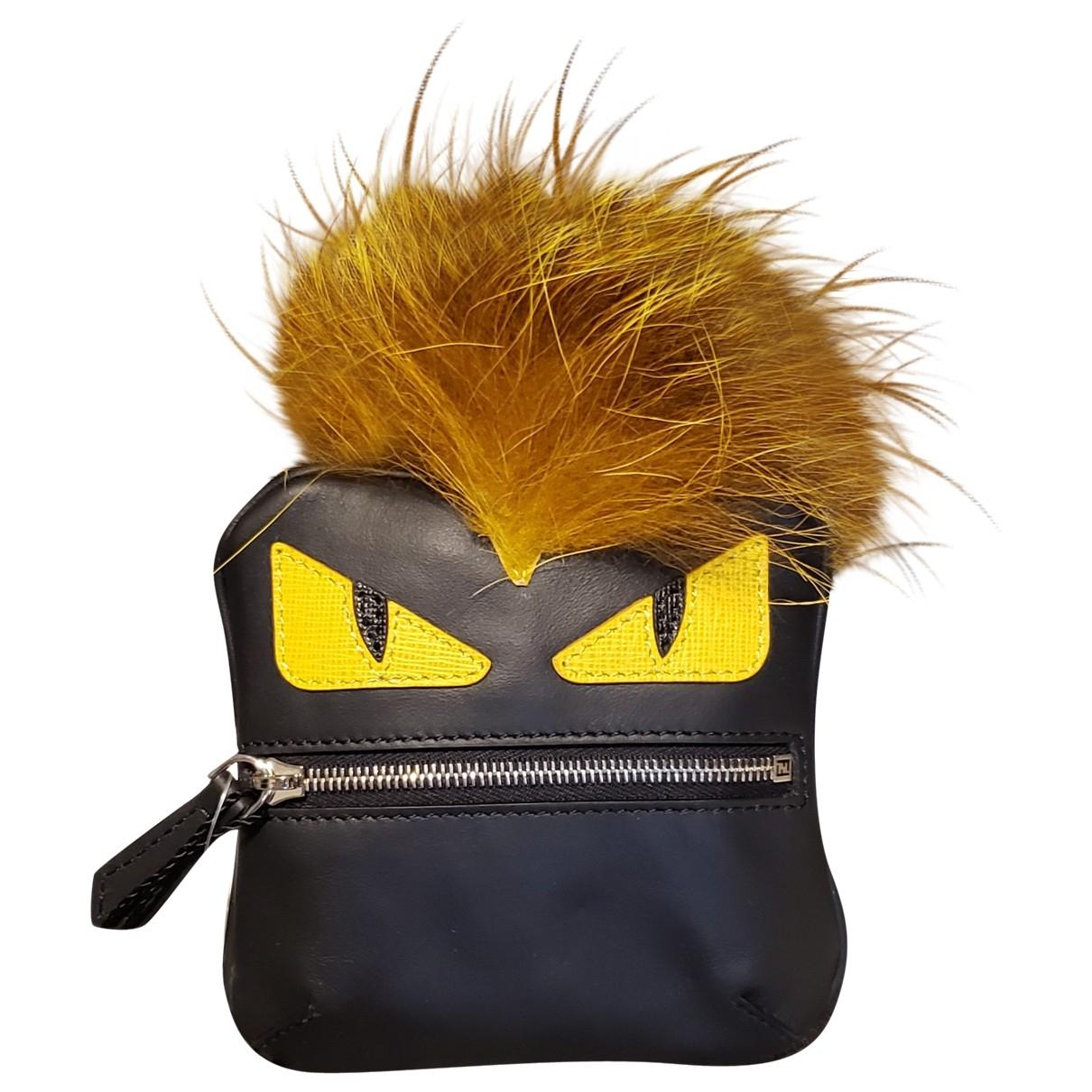 Fendi - Bijoux de sac   pour femme en cuir - noir