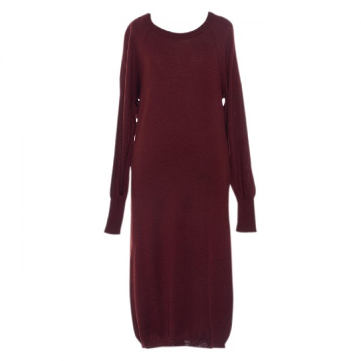Mm6 \N Burgundy Wool dress for Women S International