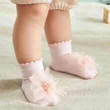 Calcetines de bebe con diseño de flor