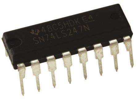 Texas Instruments SN74LS247NE4, 1 Decoder, Decoder, Driver, Inverting, 16-Pin PDIP (5)