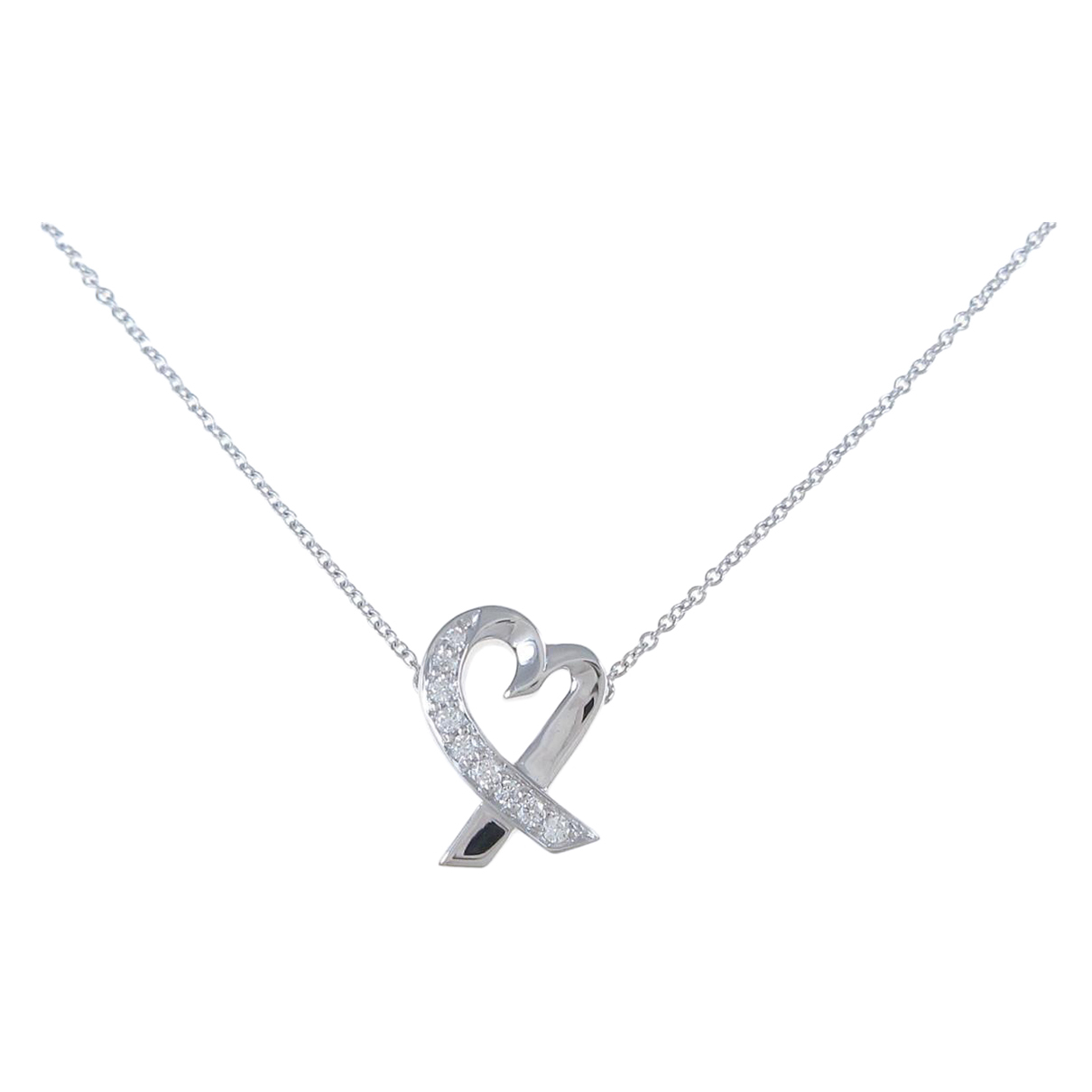 Tiffany & Co Paloma Picasso Kette in  Silber Weissgold