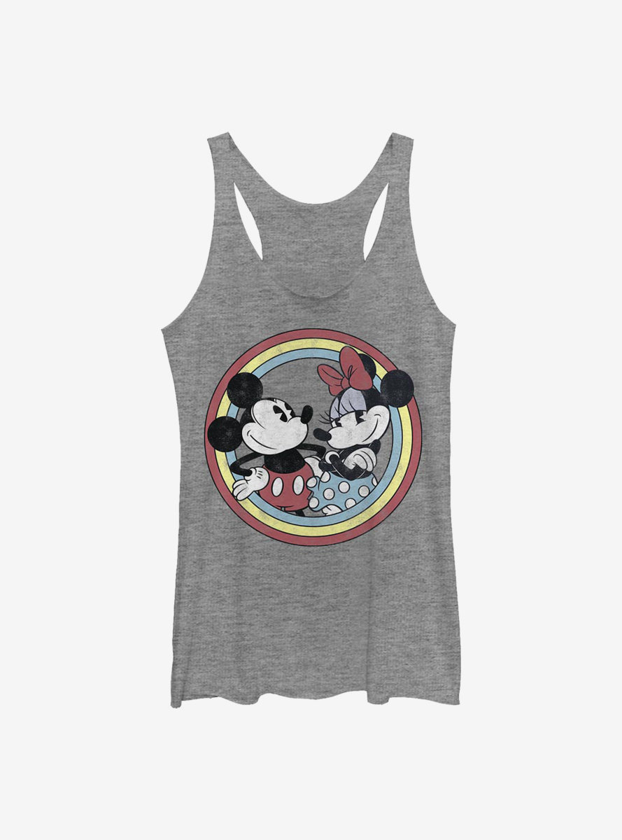 Disney Mickey Mouse Minnie Circle Womens Tank Top