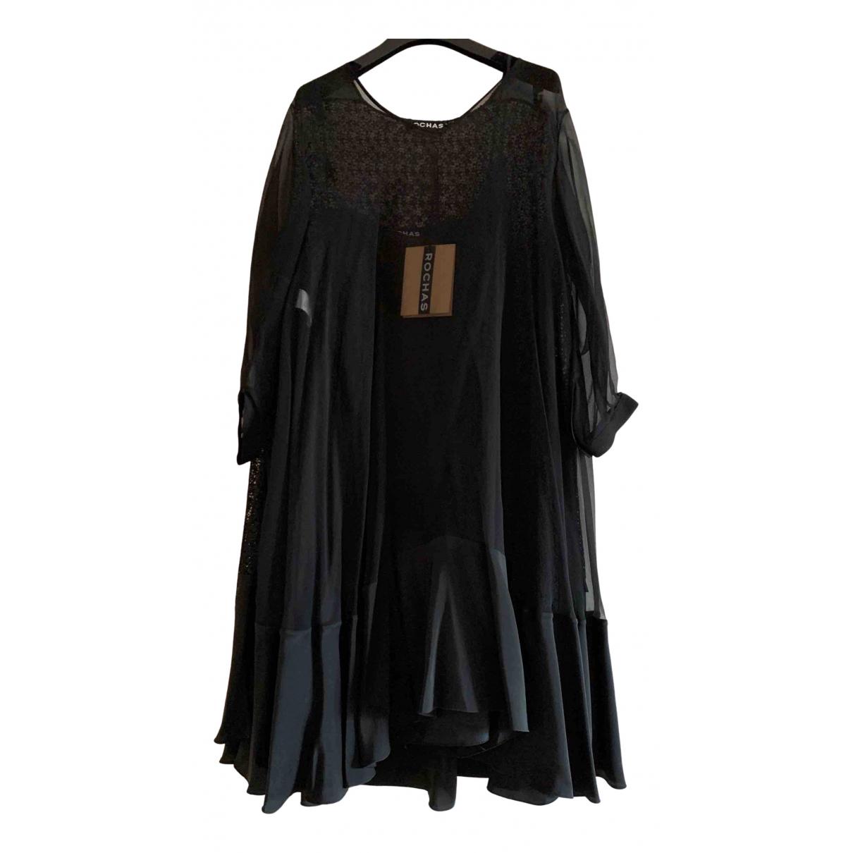 Rochas \N Kleid in  Schwarz Seide
