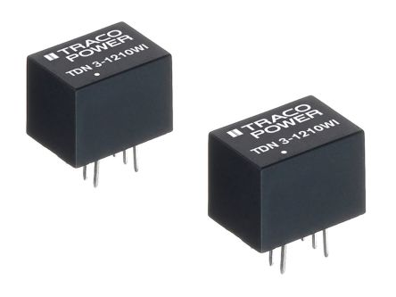 TRACOPOWER TDN 3WI 3W Isolated DC-DC Converter Through Hole, Voltage in 4.5 → 18 V dc, Voltage out ±15V dc