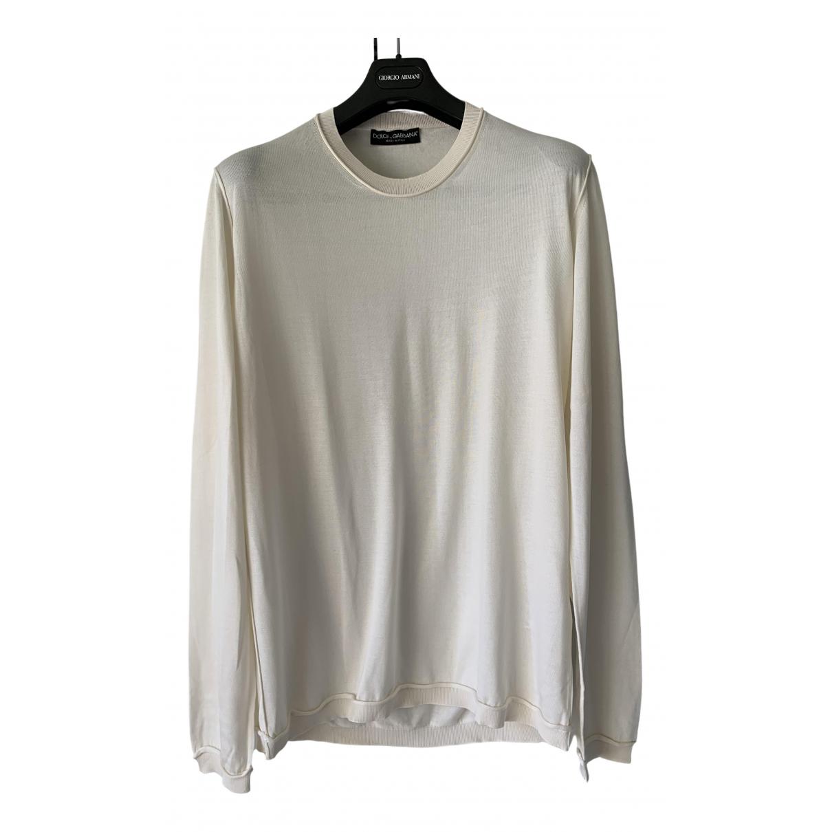 Dolce & Gabbana \N Beige Silk Knitwear & Sweatshirts for Men 52 IT