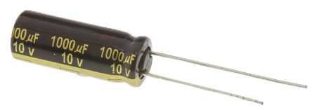 Panasonic 1000μF Electrolytic Capacitor 10V dc, Through Hole - EEUFM1A102L (5)