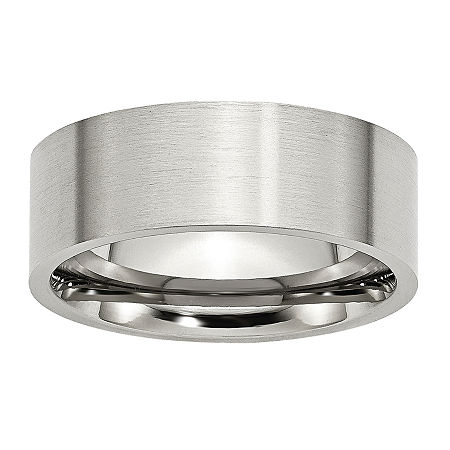 Mens 8mm Stainless Steel Wedding Band, 12 , No Color Family