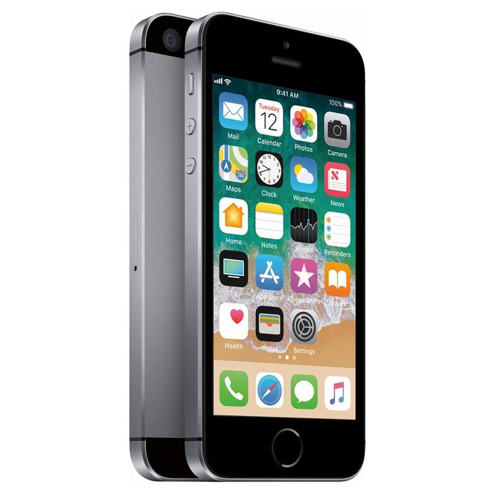 Apple iPhone SE 64GB Space Gray Fully Unlocked (Refurbished) - Space Gray (Space Gray)