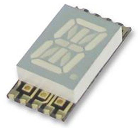 Kingbright KCPSC04-107  14-Segment LED Display, CC Yellow 46 mcd RH DP 10.2mm (4)