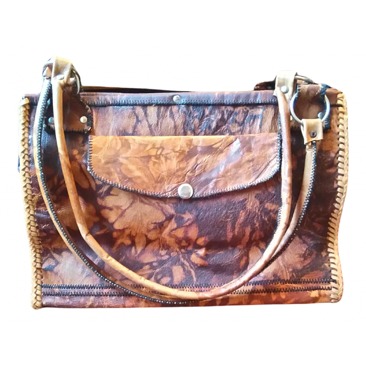 Non Signé / Unsigned N Brown Leather handbag for Women N