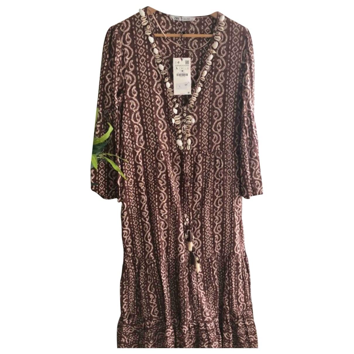 Zara \N Brown Cotton dress for Women L International
