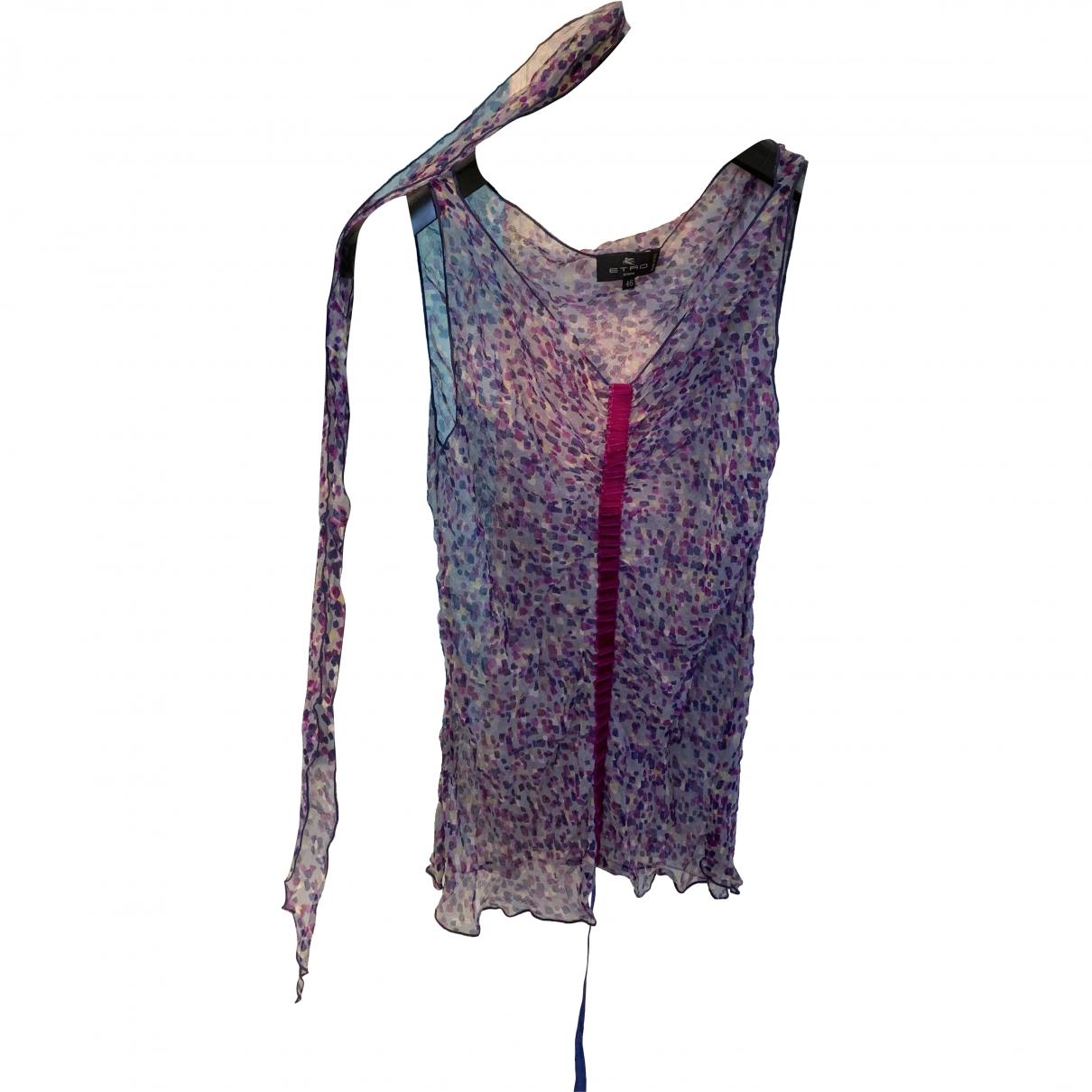 Etro \N Purple Silk  top for Women 46 IT