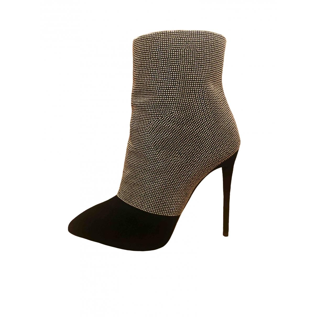 Giuseppe Zanotti \N Black Glitter Ankle boots for Women 36 EU