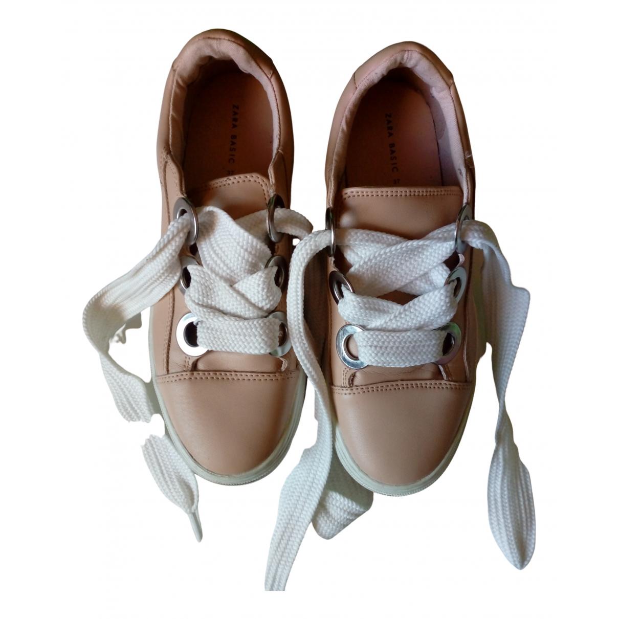 Zara \N Sneakers in  Rosa Polyester