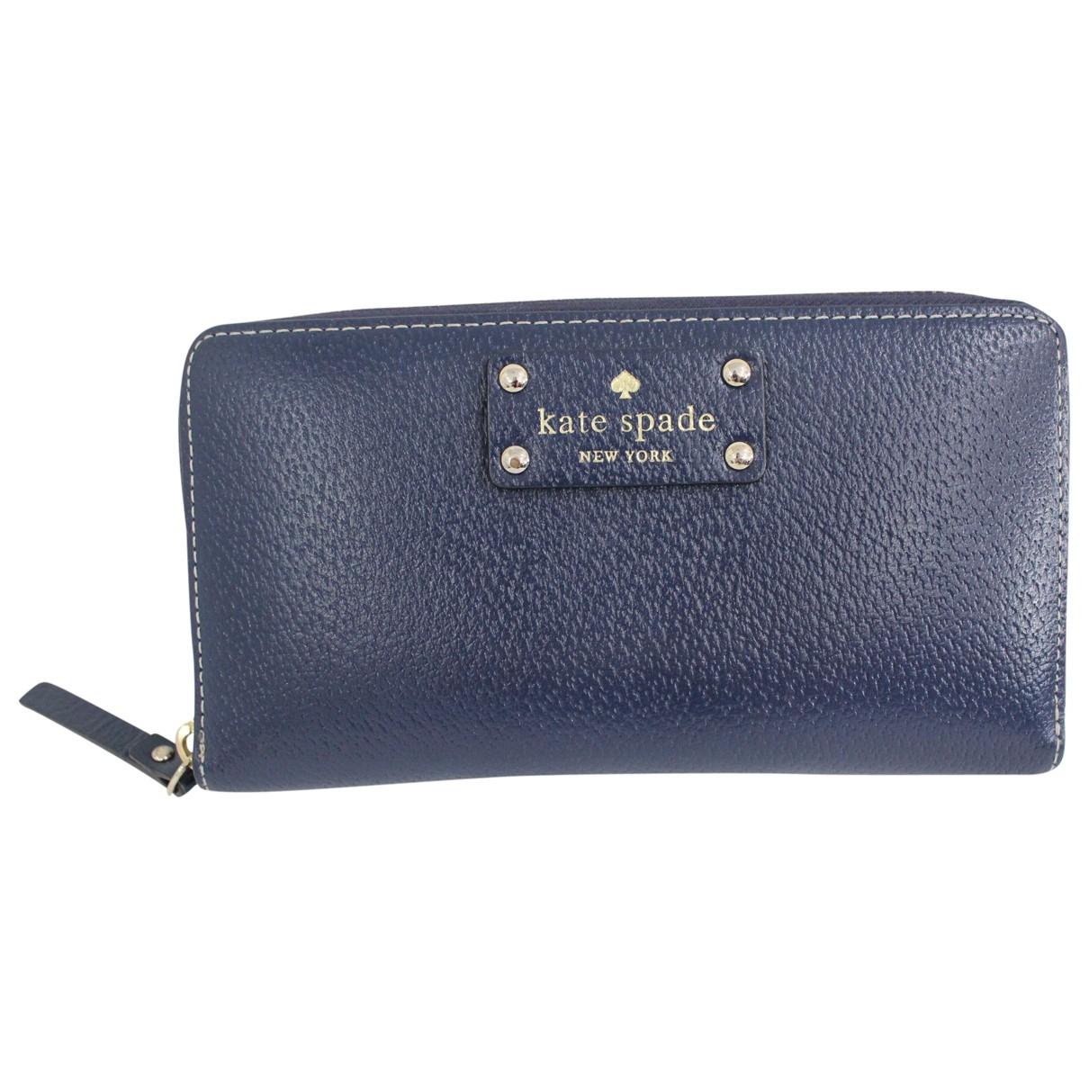Kate Spade - Portefeuille   pour femme en cuir - bleu