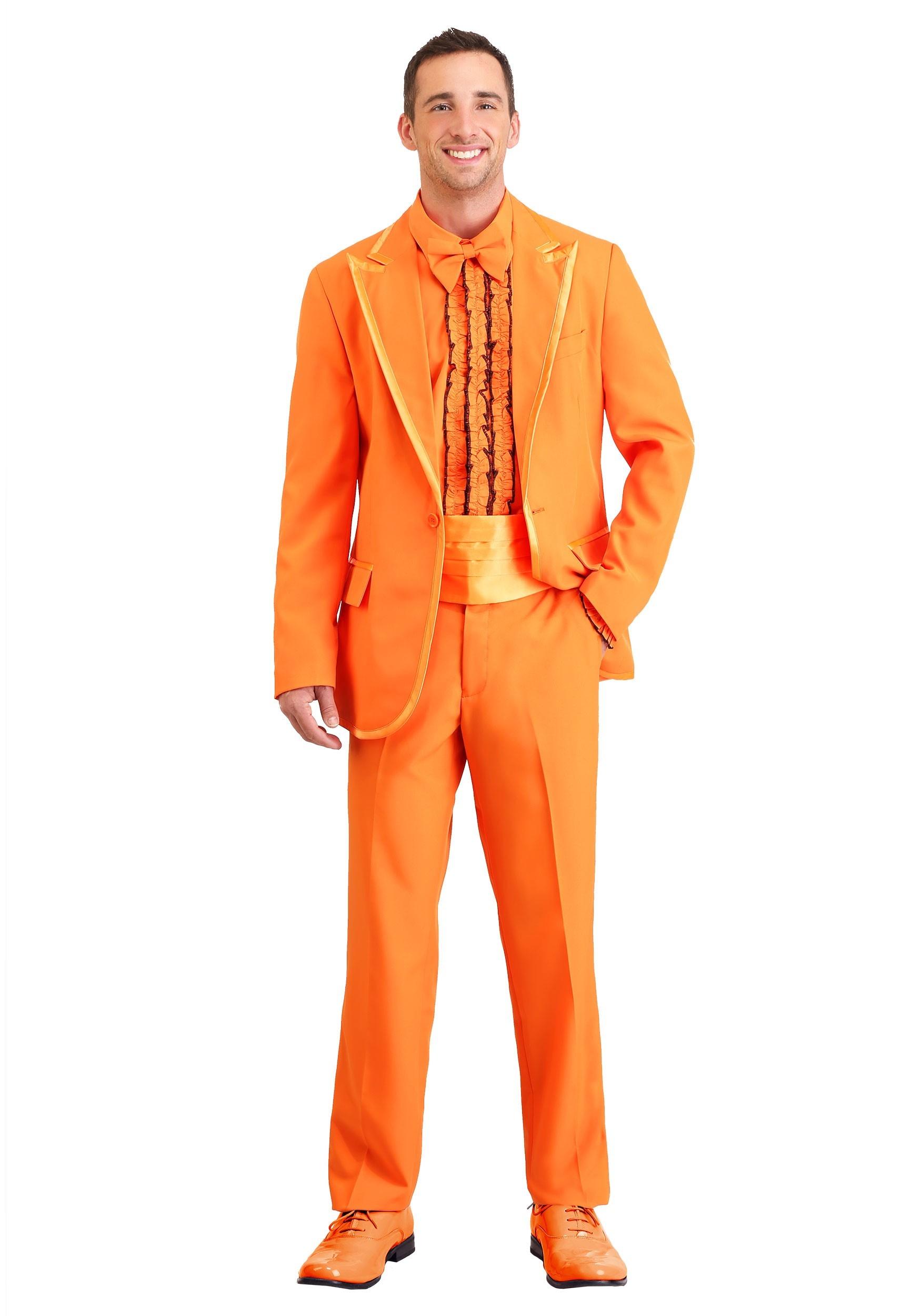 Adult Orange Tuxedo Costume