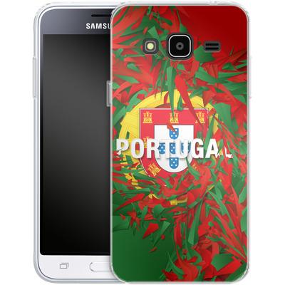 Samsung Galaxy J3 (2016) Silikon Handyhuelle - Colorful Portugal von Danny Ivan