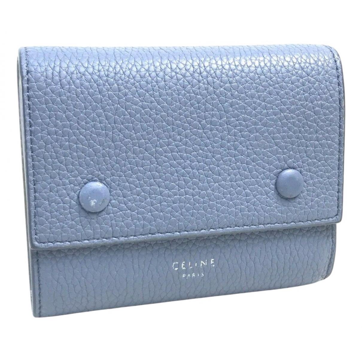 Celine \N Portemonnaie in  Blau Leder