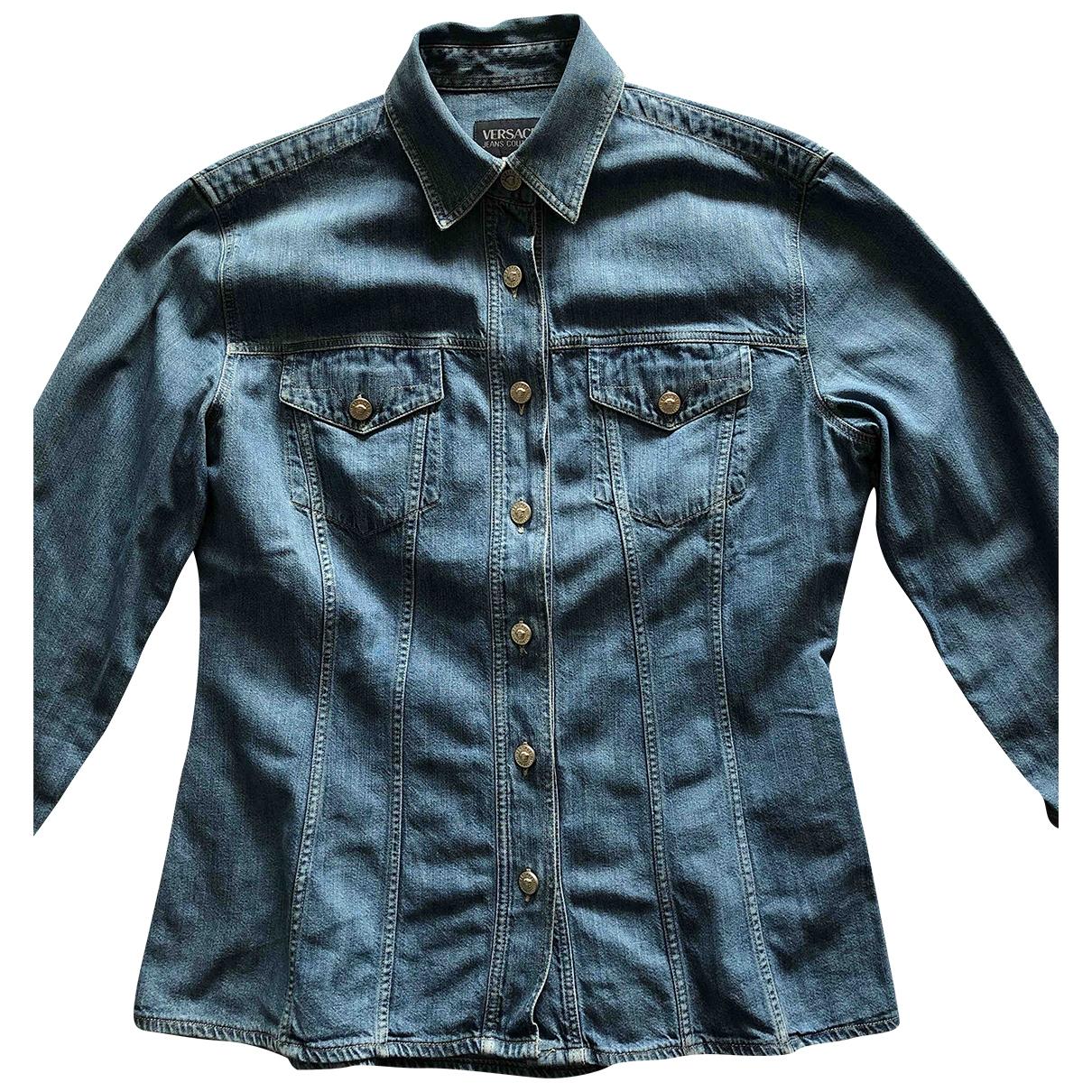 Versace Jeans \N Top in  Blau Denim - Jeans