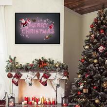 Pintura de pared con estampado de slogan de navidad sin marco