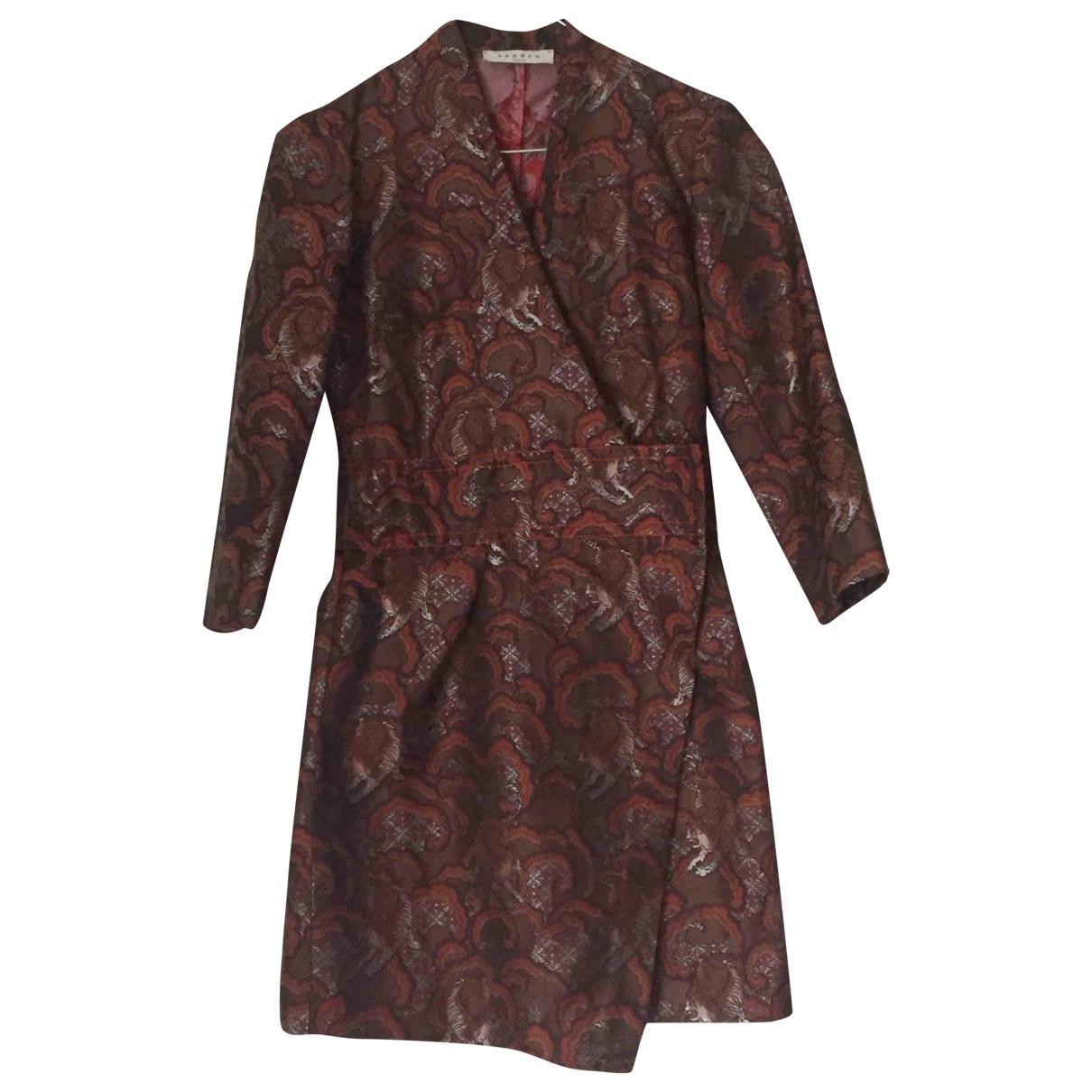 Sandro \N Kleid in  Braun Baumwolle