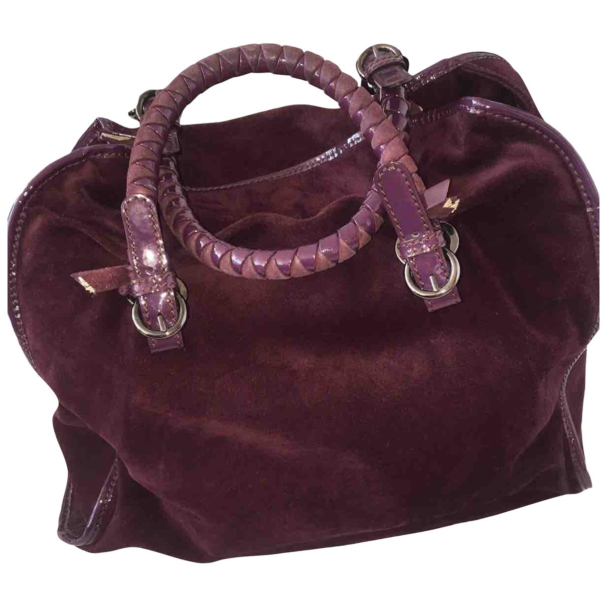 Malo N Purple Leather handbag for Women N