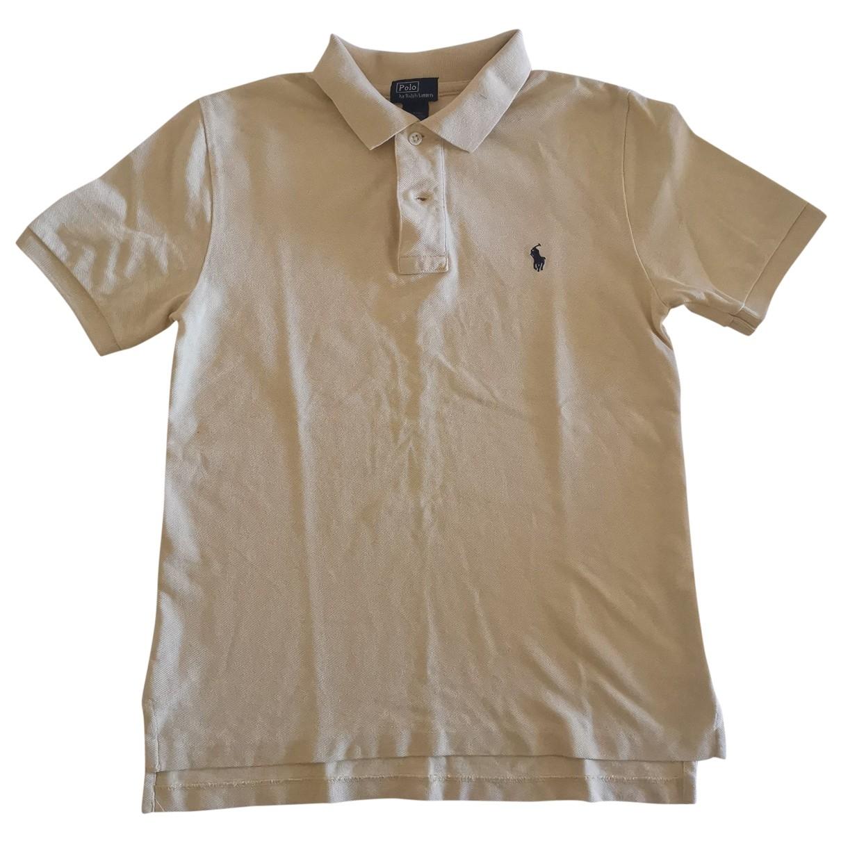 Polo Ralph Lauren - Top Polo classique manches courtes pour femme en coton - jaune