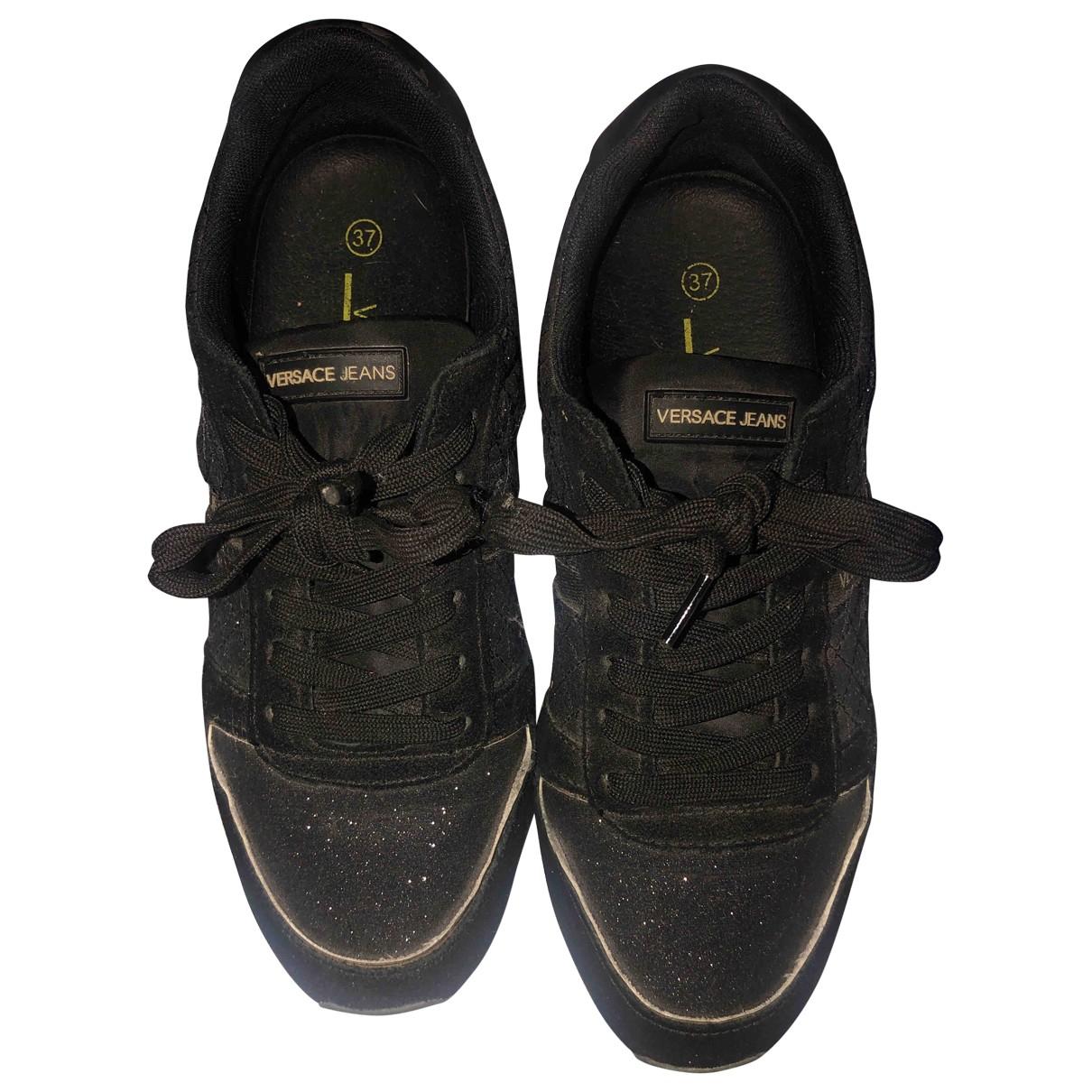 Versace Jeans N Black Glitter Trainers for Women 37 EU