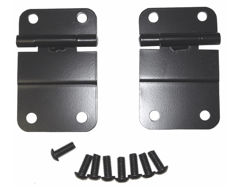 Steinjager J0053274 Tailgate (Liftgate) Repl Parts Tailgate Hinges Black Pair Jeep CJ-5 1976-1983