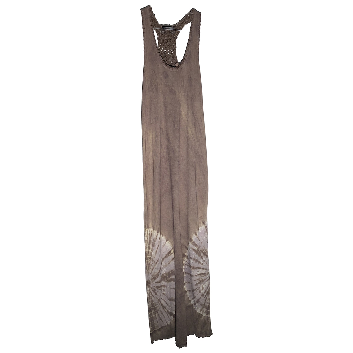 - Robe   pour femme en coton - kaki
