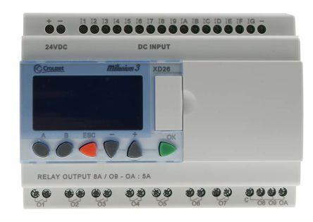 Crouzet XD26 Logic Control - 16 Inputs, 10 Outputs
