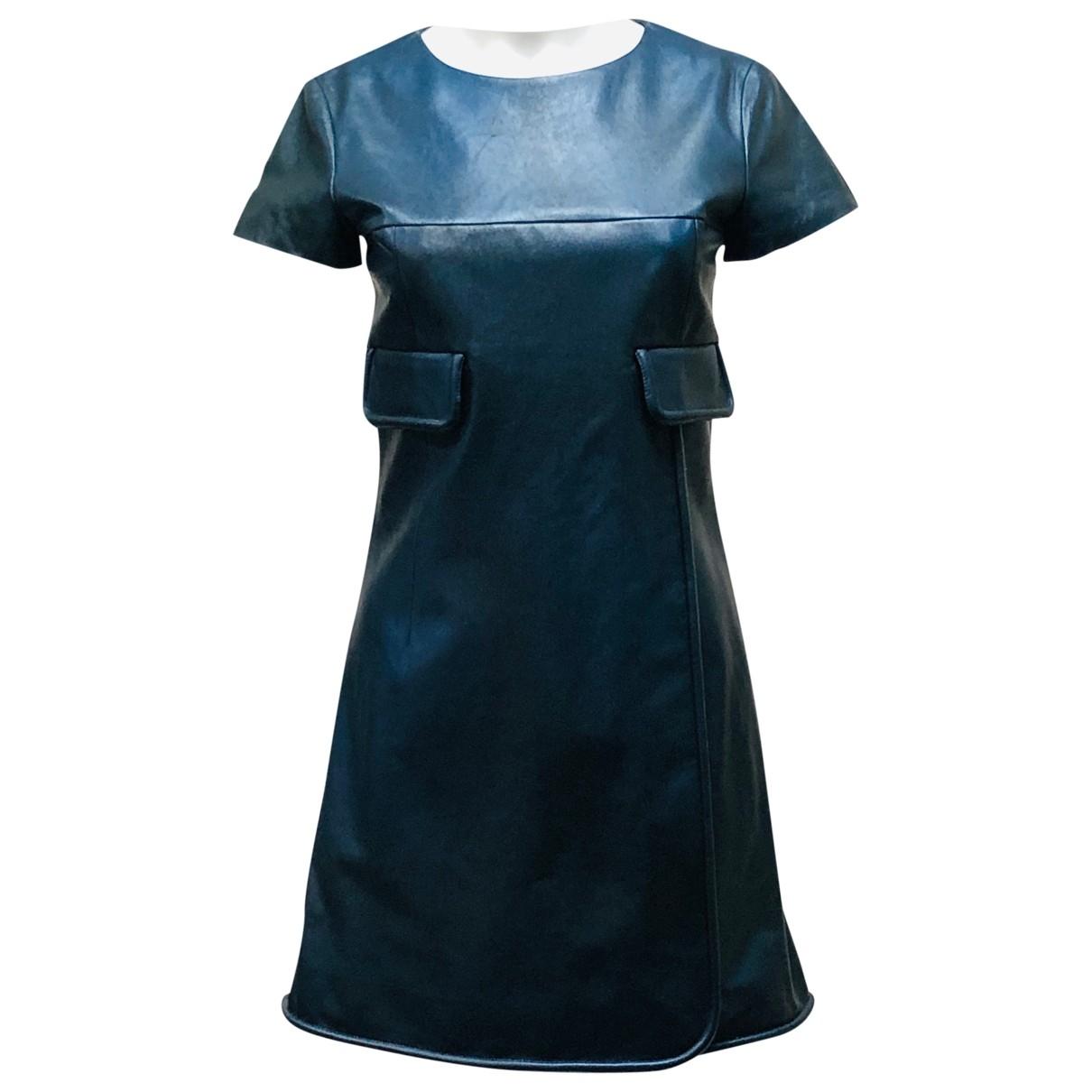 Chanel \N Kleid in  Blau Leder